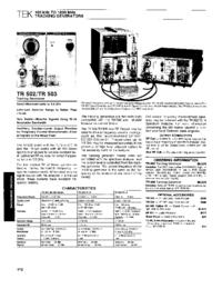 Hoja de datos Tektronix TR502