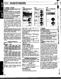 Dane techniczne Tektronix 11A34