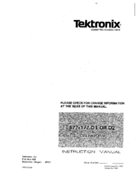 Service and User Manual Tektronix 577-177 D1