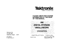 Serwis i User Manual Tektronix 468