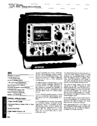 Datenblatt Tektronix 485
