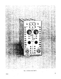 Scheda tecnica Tektronix 7A12