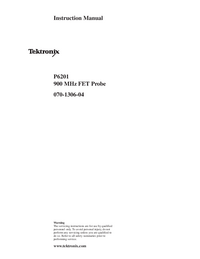 Service and User Manual Tektronix P6201