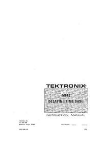Service-en gebruikershandleiding Tektronix 5B42