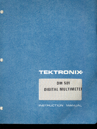 Serwis i User Manual Tektronix DM 501