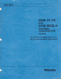 Service and User Manual Tektronix 2246 MOD A