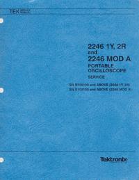 Servicio y Manual del usuario Tektronix 2246 MOD A