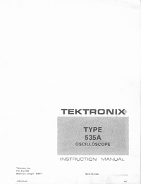 Serwis i User Manual Tektronix 535A