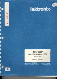 manuel de réparation Tektronix 496P