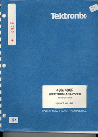 Manual de servicio Tektronix 496P