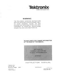 Service et Manuel de l'utilisateur Tektronix 067-0587-02