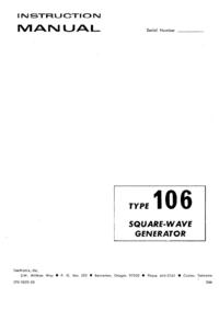 Service-en gebruikershandleiding Tektronix 106