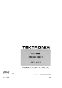 Service and User Manual Tektronix R485
