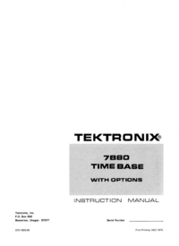 Servicio y Manual del usuario Tektronix 7B80