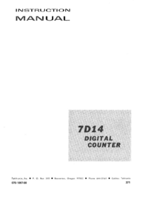 Service- und Bedienungsanleitung Tektronix 7D14