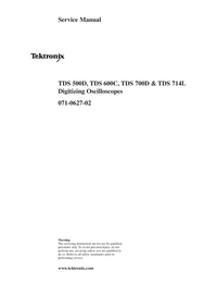 Service Manual Tektronix TDS 600C
