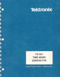 Service et Manuel de l'utilisateur Tektronix TG 501