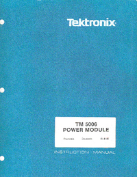 Service and User Manual Tektronix TM 5006