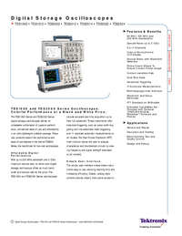 Datenblatt Tektronix TDS2014