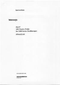 Service and User Manual Tektronix P6137