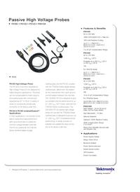 Технический паспорт Tektronix P5100