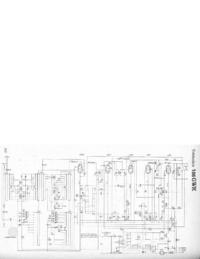 Manuale di servizio, diagramma cirquit solo Telefunken 166 GWK