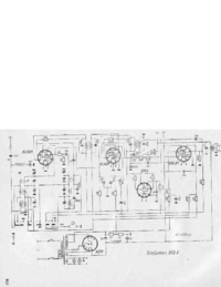 Service Manual, cirquit diagram only Telefunken 865 V