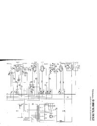 Service Manual, cirquit diagram only Telefunken D 860 WKZ