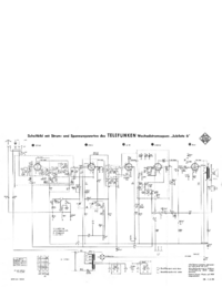 Service Manual, cirquit diagram only Telefunken Jubilate 6