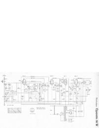 Servicehandboek, Schema alleen Telefunken Operette 50 W