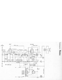 Service Manual, cirquit diagram only Telefunken Roma