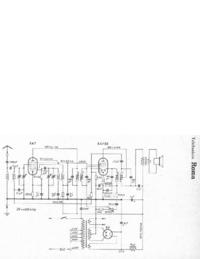 Manual de servicio, diagrama cirquit sólo Telefunken Roma