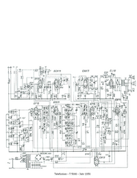 Service Manual, cirquit diagram only Telefunken 5000