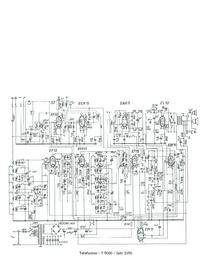 Manual de servicio, diagrama cirquit sólo Telefunken 5000
