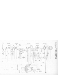 Service Manual, cirquit diagram only Telefunken 651 WL