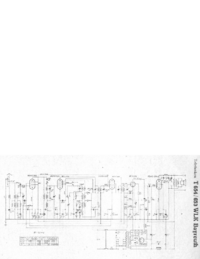 Service Manual, cirquit diagram only Telefunken 654 WLK Bayreuth