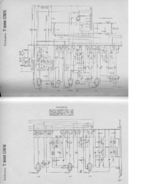 Service Manual, cirquit diagram only Telefunken 8000 GWK