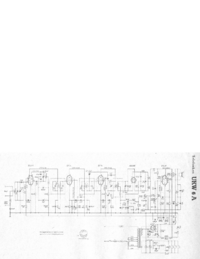 Service Manual, cirquit diagram only Telefunken UKW 6A
