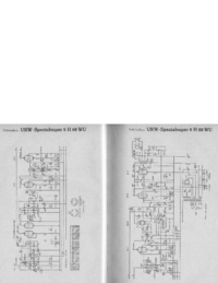 Service Manual, cirquit diagram only Telefunken UKW Spezialsuper 9 H 99 WU