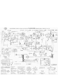 Manuale di servizio, diagramma cirquit solo Telefunken Jubilate de Luxe 1261