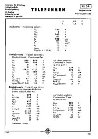 Instrukcja obsługi Telefunken EL 34