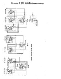 Servicehandboek Extension, alleen Schema Telefunken B 644 GWK