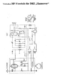 Servizio Supplemento al manuale, Cirquit Diagramma solo Telefunken DKE Hannover