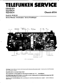 Service Manual Telefunken Chassis 615 Stereo