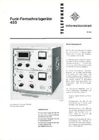 Hoja de datos Telefunken TSG 455