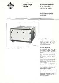 Datenblatt Telefunken V1106 KW/4