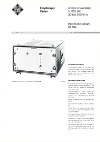 Datenblatt Telefunken V1170 UK