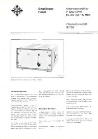 Технический паспорт Telefunken V 1202 LW/1