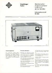 Hoja de datos Telefunken V122 Uk/2