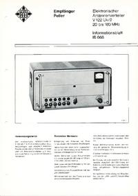 folha de dados Telefunken V122 Uk/2